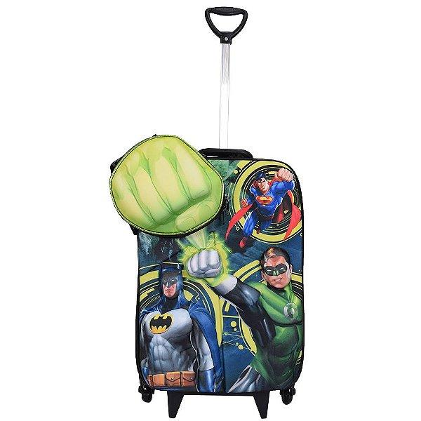 Kit Mochila Infantil 3D + Lancheira Liga da Justiça - Lanterna Verde - Diplomata
