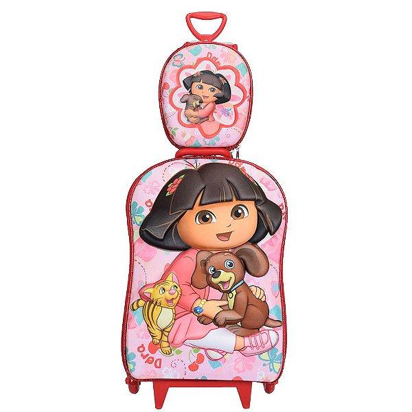 Kit Mochila Infantil 3D + Lancheira - Dora Aventureira & Pets - Diplomata