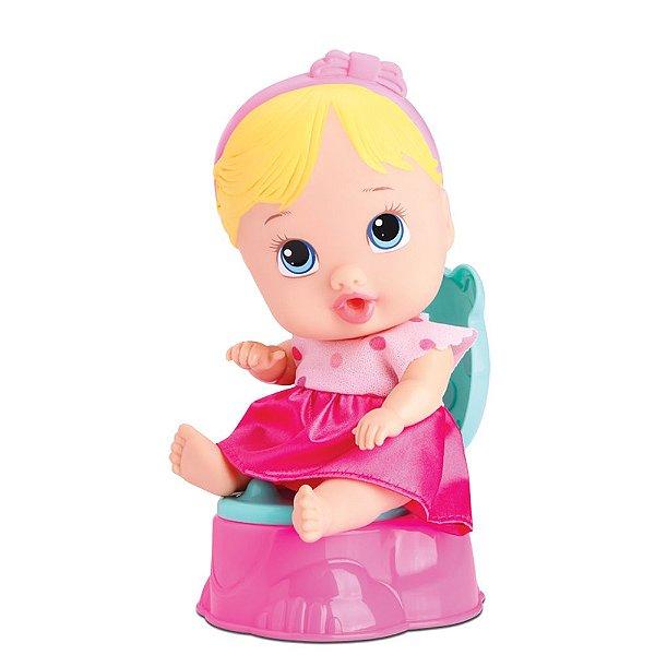 Boneca Loira Little Dolls Faz Xixi! - Divertoys