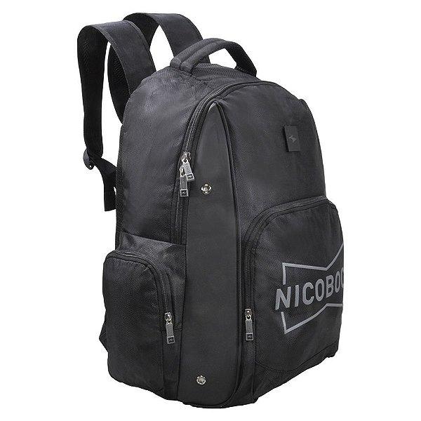 Mochila de Costas Para Notebook Nicoboco - Preto - Xeryus