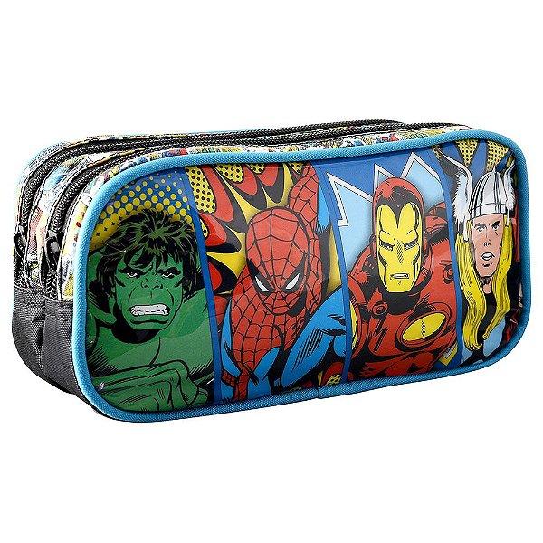 Estojo Duplo Marvel Comics Panels - Xeryus