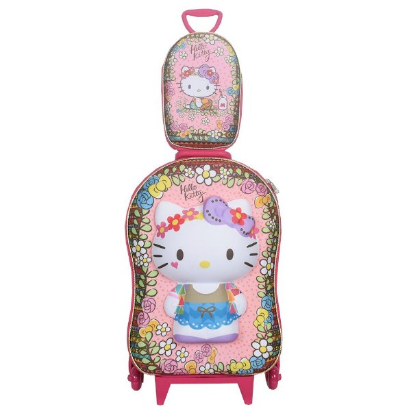 Kit Mochila Infantil 3D + Lancheira - Hello Kitty - Diplomata
