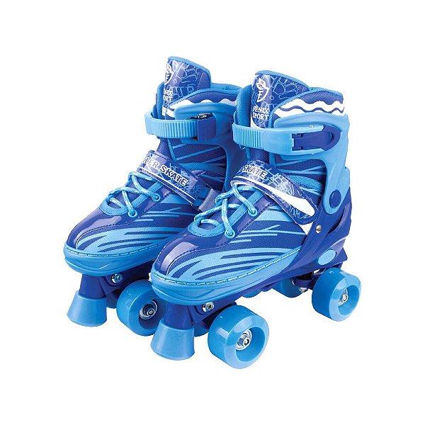 Patins Ajustável Roller Skate - Azul - Fênix