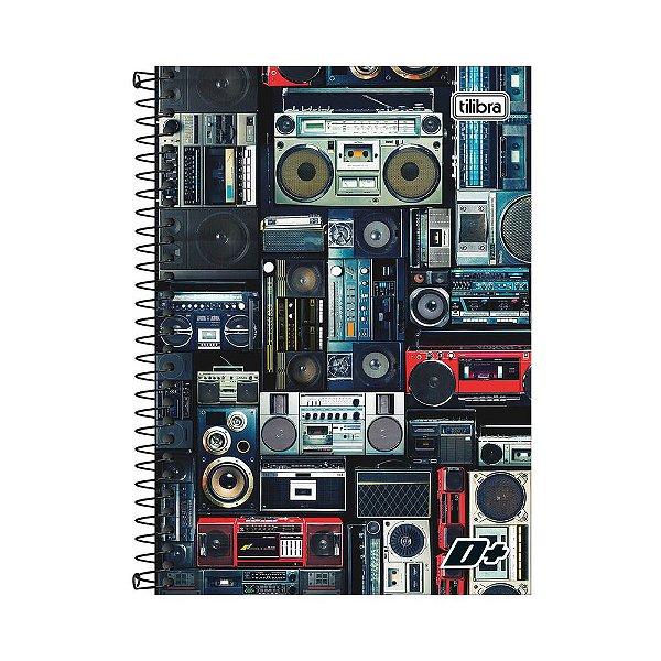 Caderno Espiral 1/4 D+ - Rádios - 96 folhas - Tilibra
