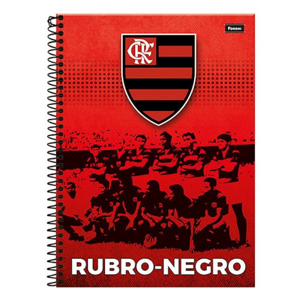 Caderno Flamengo - Rubro-Negro - 1 Matéria - Foroni