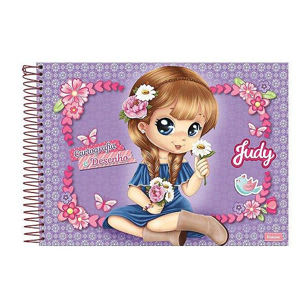 Caderno de Cartografia e Desenho Judy - Roxo - Foroni