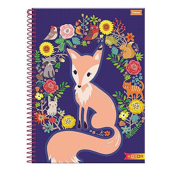 Caderno Kolor - Raposa - 1 Matéria - Foroni