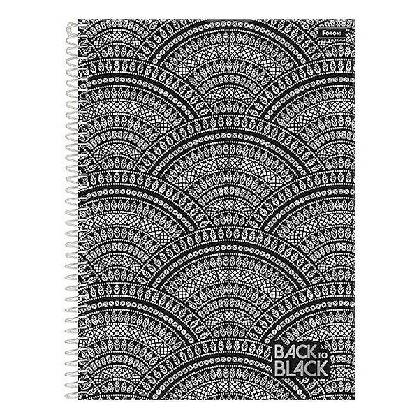 Caderno Back To Black - Étnica - 10 Matérias - Foroni