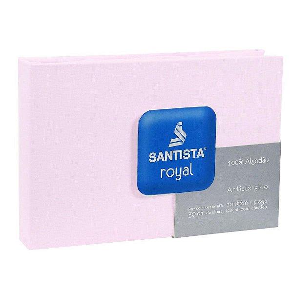 Lençol de Solteiro Royal Liso - Rosa Claro - Santista