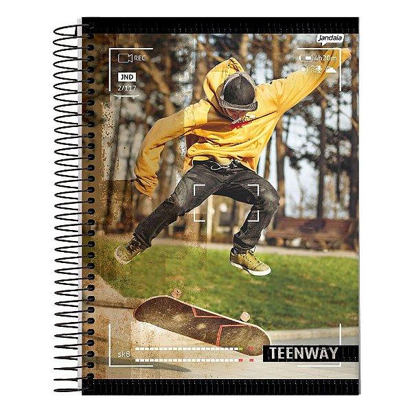 Caderno Teen Way - Ar Livre - 1 Matéria - Jandaia