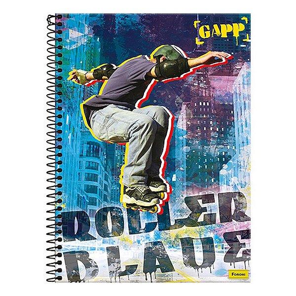 Caderno Gapp - Rollerblade - 1 Matéria - Foroni