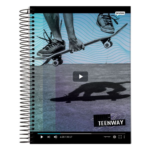 Caderno Teen Way - Vídeo - 10 Matérias - Jandaia