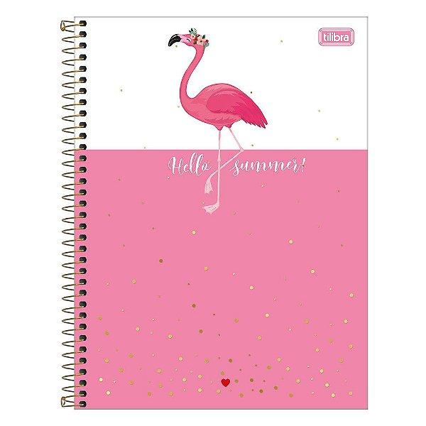 Caderno Aloha - Flamingo Hello Summer - 160 Folhas - Tilibra