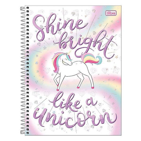Caderno Blink - Shine Bright Like a Unicorn - 160 Folhas - Tilibra