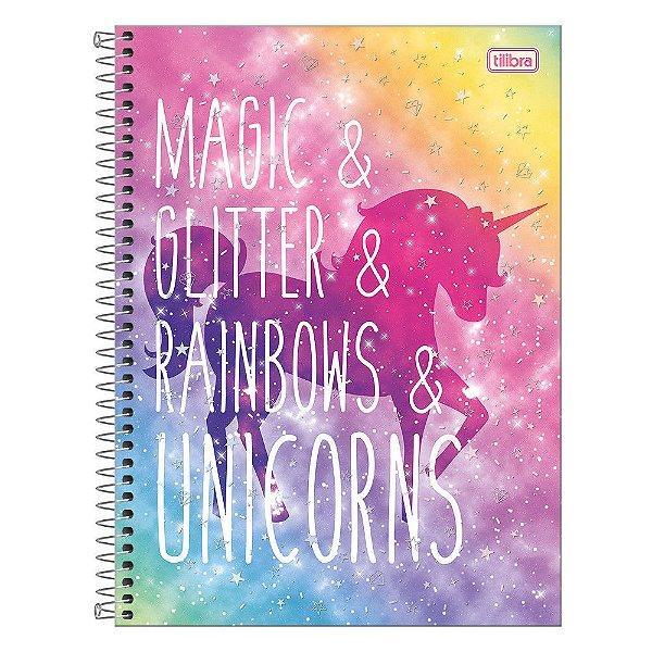 Caderno Blink - Glitter & Rainbows - 160 Folhas - Tilibra
