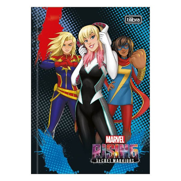 Caderno Brochura Rising Secret Warriors - Azul  - Tilibra