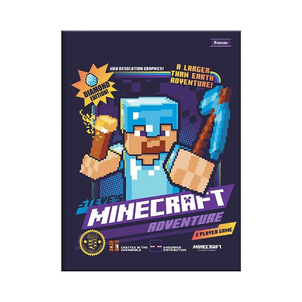 Caderno Brochura Pequeno Minecraft - Adventure - Foroni