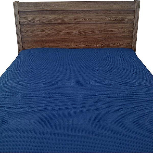 Colcha Piquet Casal - Azul - Döhler