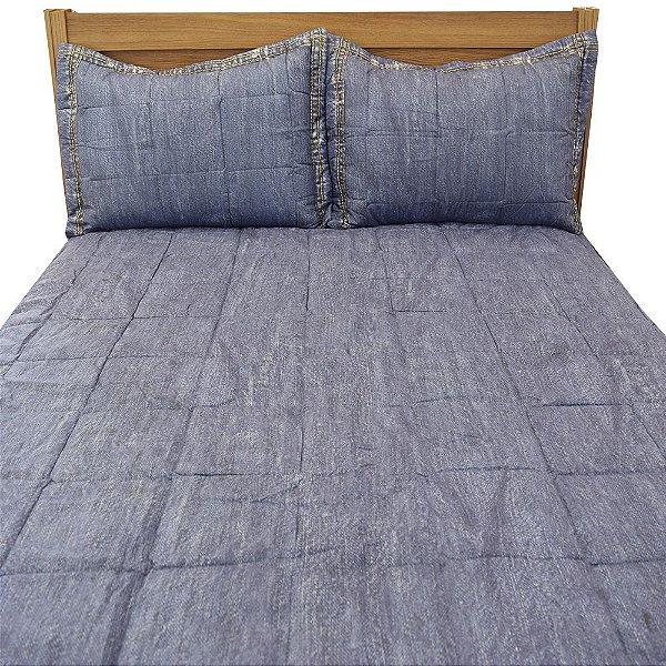 Kit Cobre Leito Casal Versátile - Jeans - Hedrons