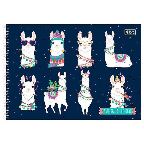 Caderno de Cartografia e Desenho Hello! - Lhamas Marinho - Tilibra