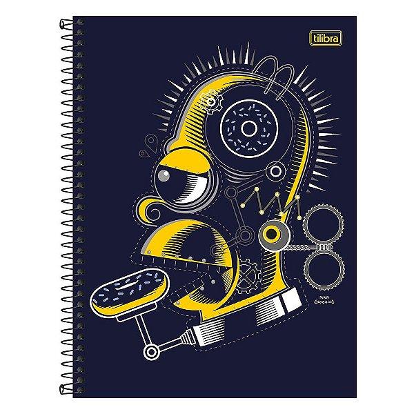 Caderno The Simpsons - Homer - 1 Matéria - Tilibra