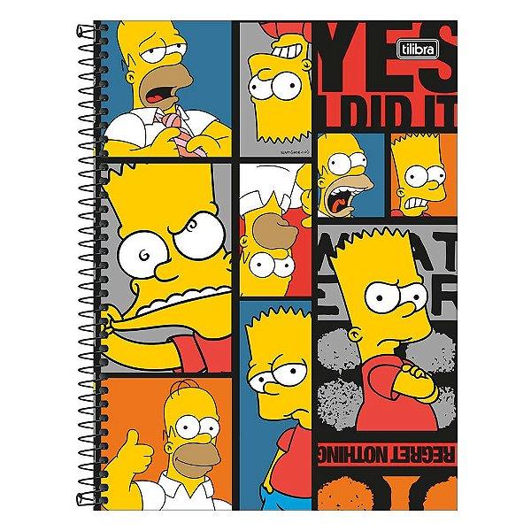 Caderno The Simpsons - Bart & Homer - 1 Matéria - Tilibra