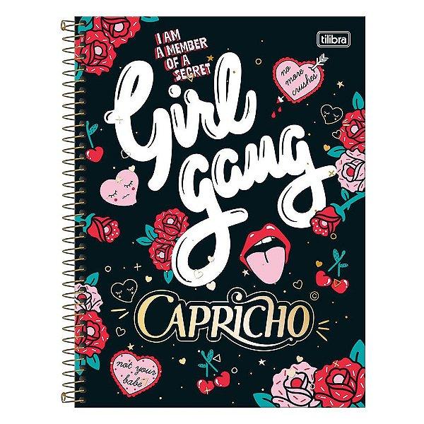 Caderno Capricho - Girl Gang - 1 Matéria - Tilibra