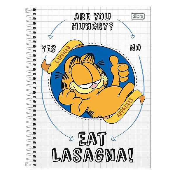 Caderno Garfield - Branco - 1 Matéria - Tilibra