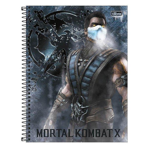 Caderno Mortal Kombat X - Personagem - 80 Folhas - Tilibra
