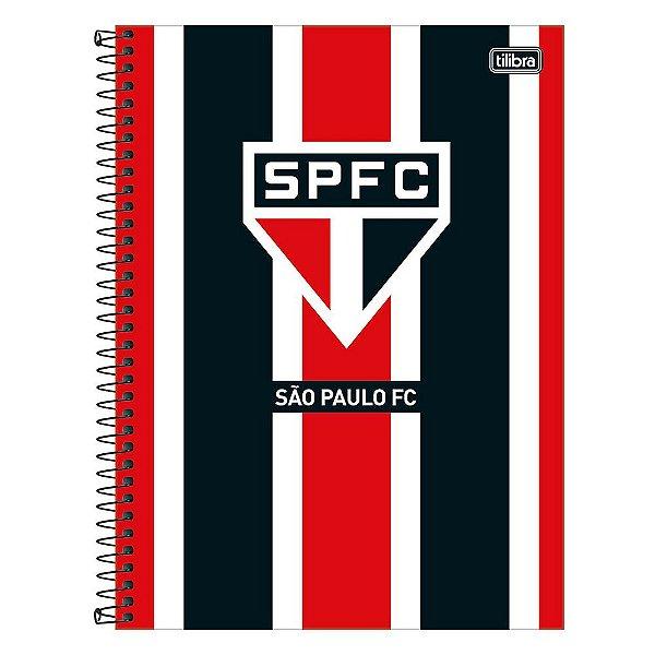 Caderno São Paulo - Preto/Vermelho - 160 Folhas - Tilibra