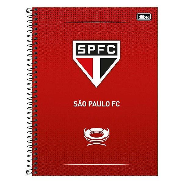 Caderno São Paulo - Vermelho - 160 Folhas - Tilibra