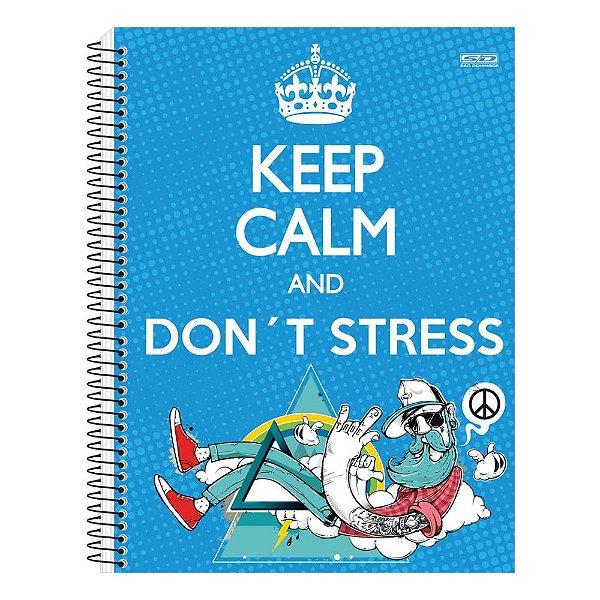 Caderno Keep Calm and Don't Stress - 1 matérias