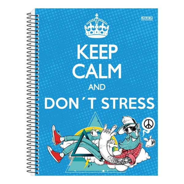 Caderno Keep Calm And Don't Stress - 10 Matérias - São Domingos