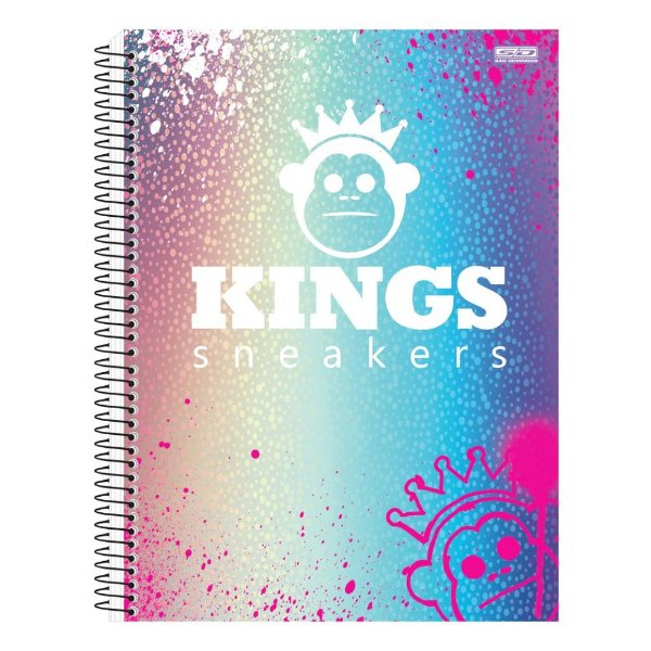 Caderno Kings Sneakers Colors - 1 Matéria - São Domingos