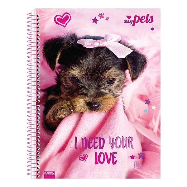 Caderno My Pets - I Need Your Love - 10 Matérias - São Domingos