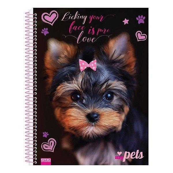 Caderno My Pets - Preto - 1 Matéria - São Domingos