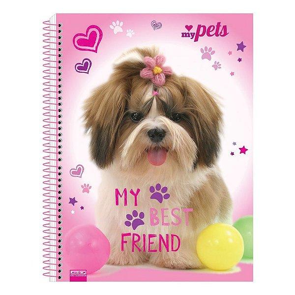 Caderno My Pets - My Best Friend - 1 Matéria - São Domingos