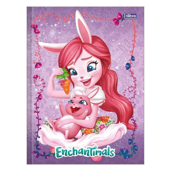 Caderno Brochura Enchantimals - Bree Bunny e Twist - 80 Folhas - Tilibra
