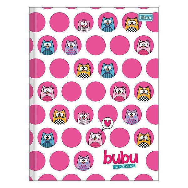 Caderno Brochura Bubu e As Corujinhas - Bolinhas - 80 Folhas - Tilibra