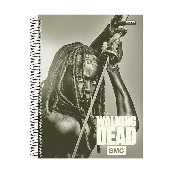Caderno The Walking Dead - Michonne - 1 Matéria - São Domingos