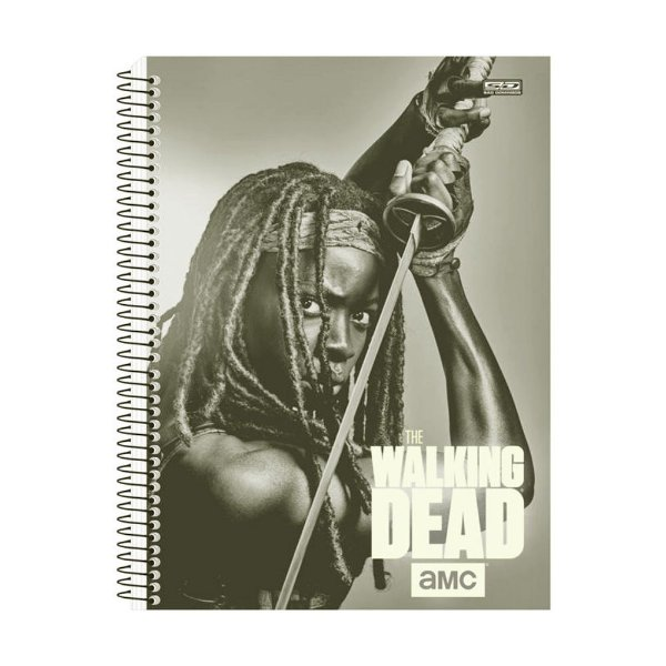 Caderno The Walking Dead - Michonne - 10 Matérias - São Domingos