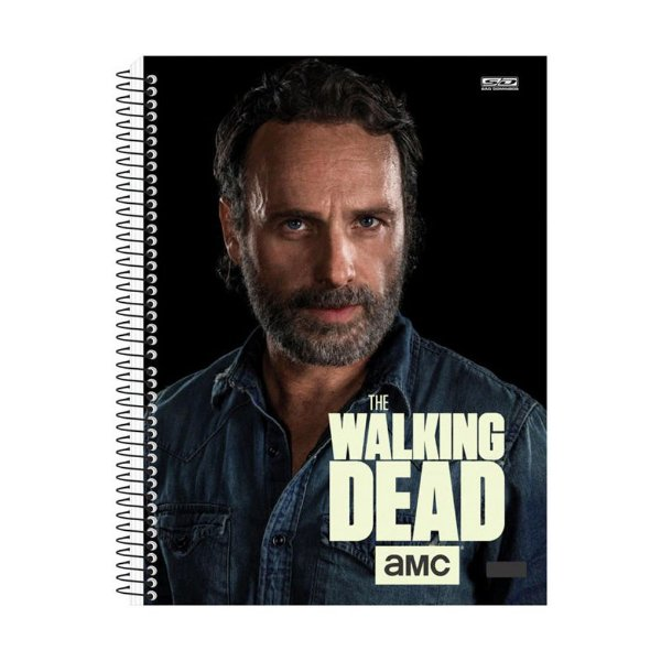Caderno The Walking Dead - Rick - 15 Matérias - São Domingos