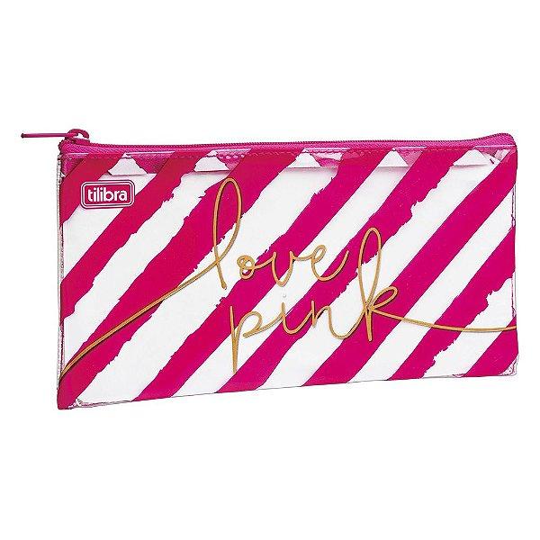 Estojo Slim Love Pink - Rosa - Tilibra