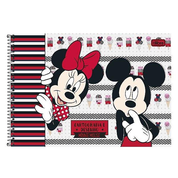 Caderno De Cartografia E Desenho Milimetrado Minnie Mickey