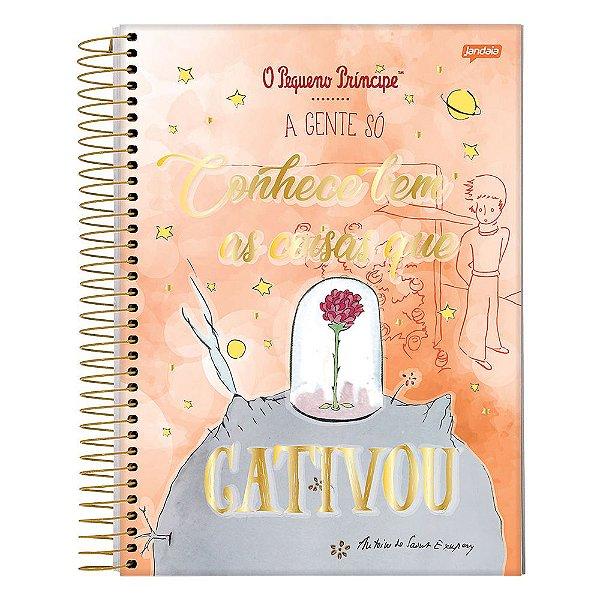 Caderno O Pequeno Príncipe - Laranja - 1 Matéria - Jandaia