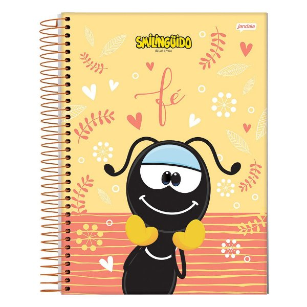 Caderno Smilingüido - Amarelo - 1 Matéria - Jandaia