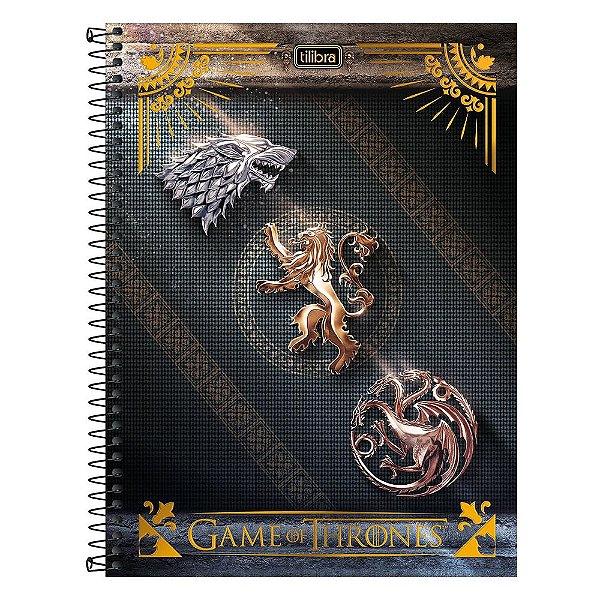 Caderno Game Of Thrones - Casas - 1 Matéria - Tilibra