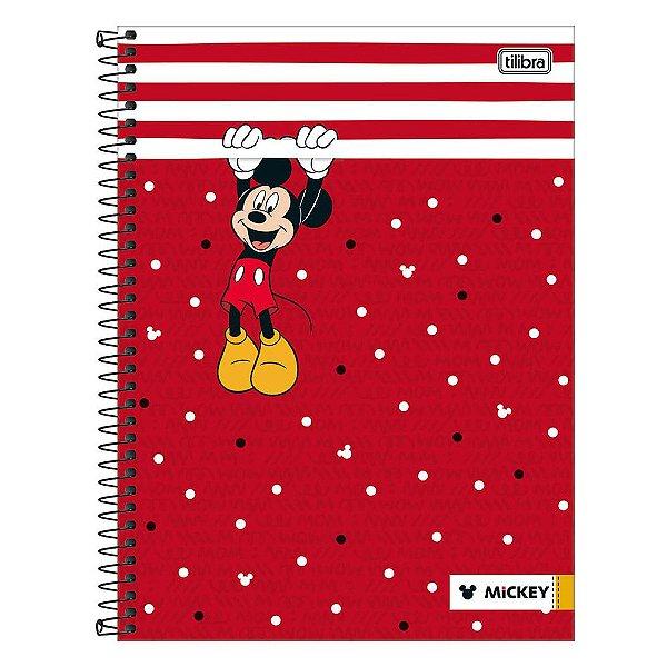 Caderno Mickey Mouse - Vermelho - 1 Matéria - Tilibra
