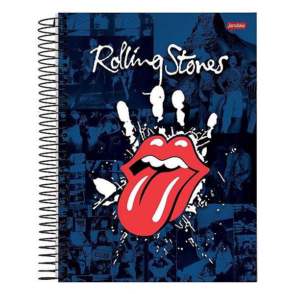 Caderno The Rolling Stones - Azul - 10 Matérias - Jandaia