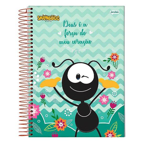 Caderno Smilingüido - Turquesa - 1 Matéria - Jandaia